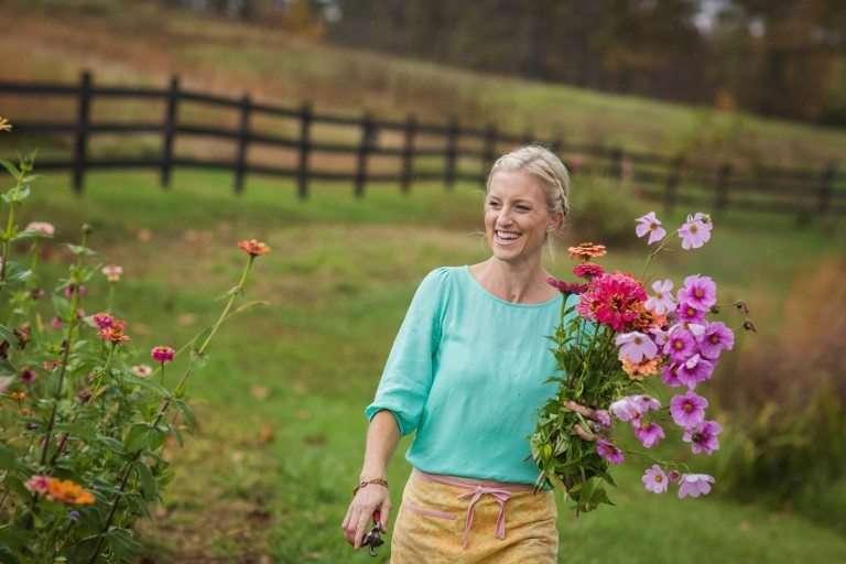 flower farmer and wedding florist