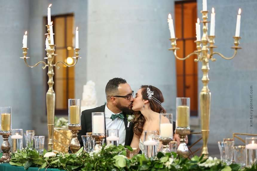 St. Patrick's Day Inspired Emerald and Gold Styled Wedding Shoot!