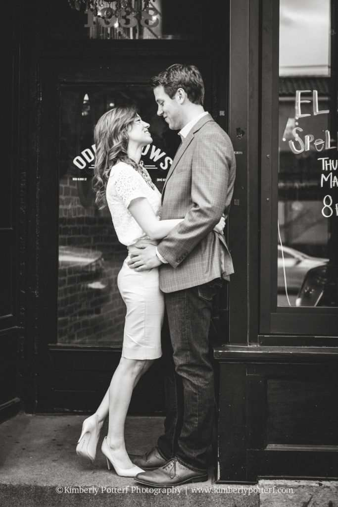 Short North Arts District, Columbus Ohio engagement photography, central ohio wedding photographer, Oddfellows Liquor Bar