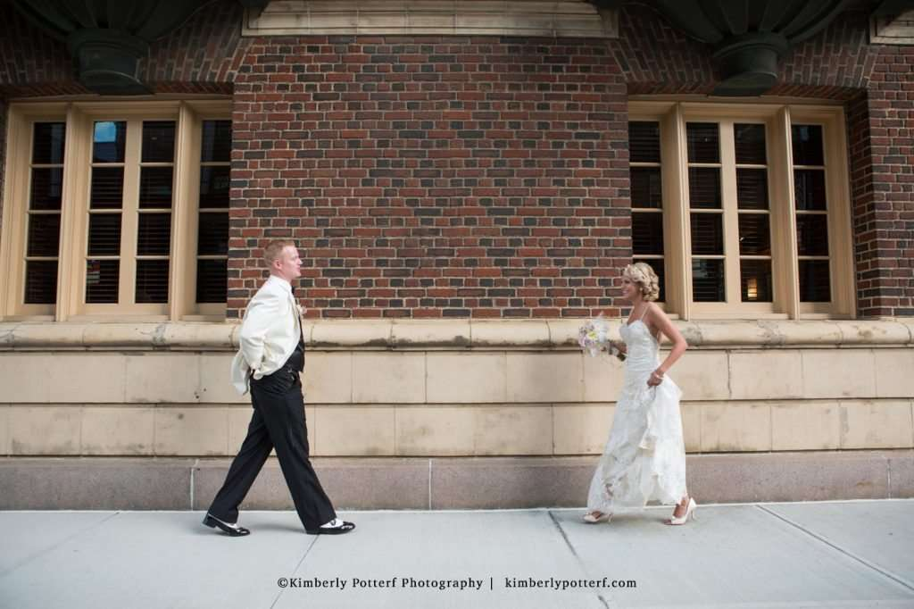 Bride and groom first look at the Athletic Club of Columbus