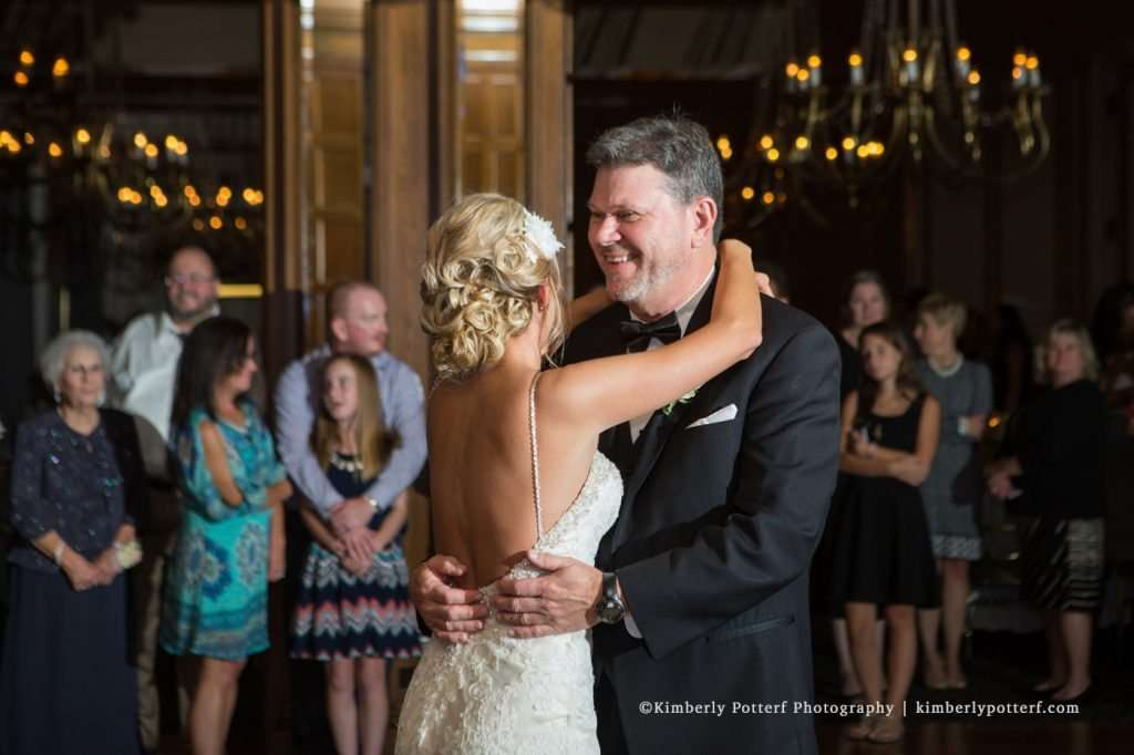 traditional father daughter wedding dance at the Athletic Club of Columbus
