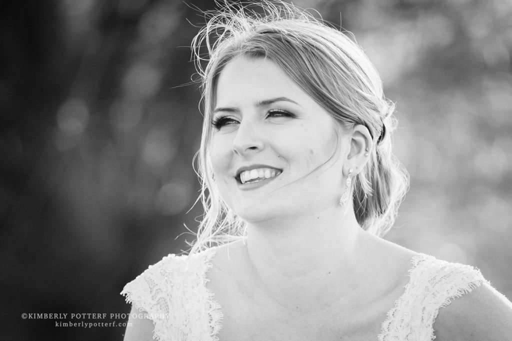 candid natural photo of a bride smiling