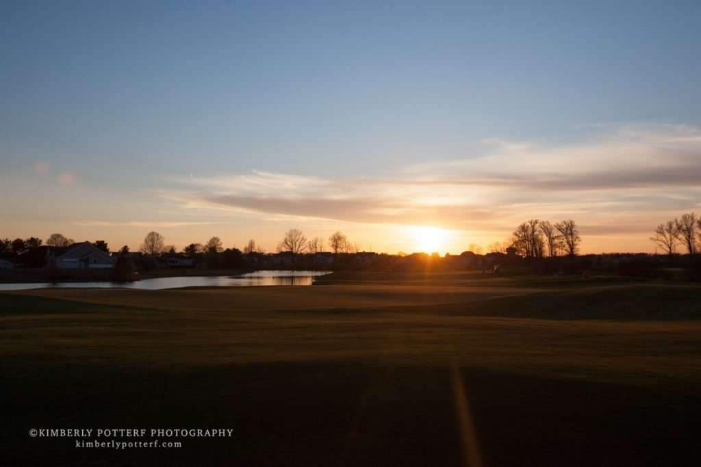 wide angle sunset at the Golf Club of Dublin