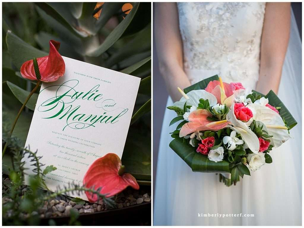 A Tropical-Inspired Wedding at the Franklin Park Conservatory 4