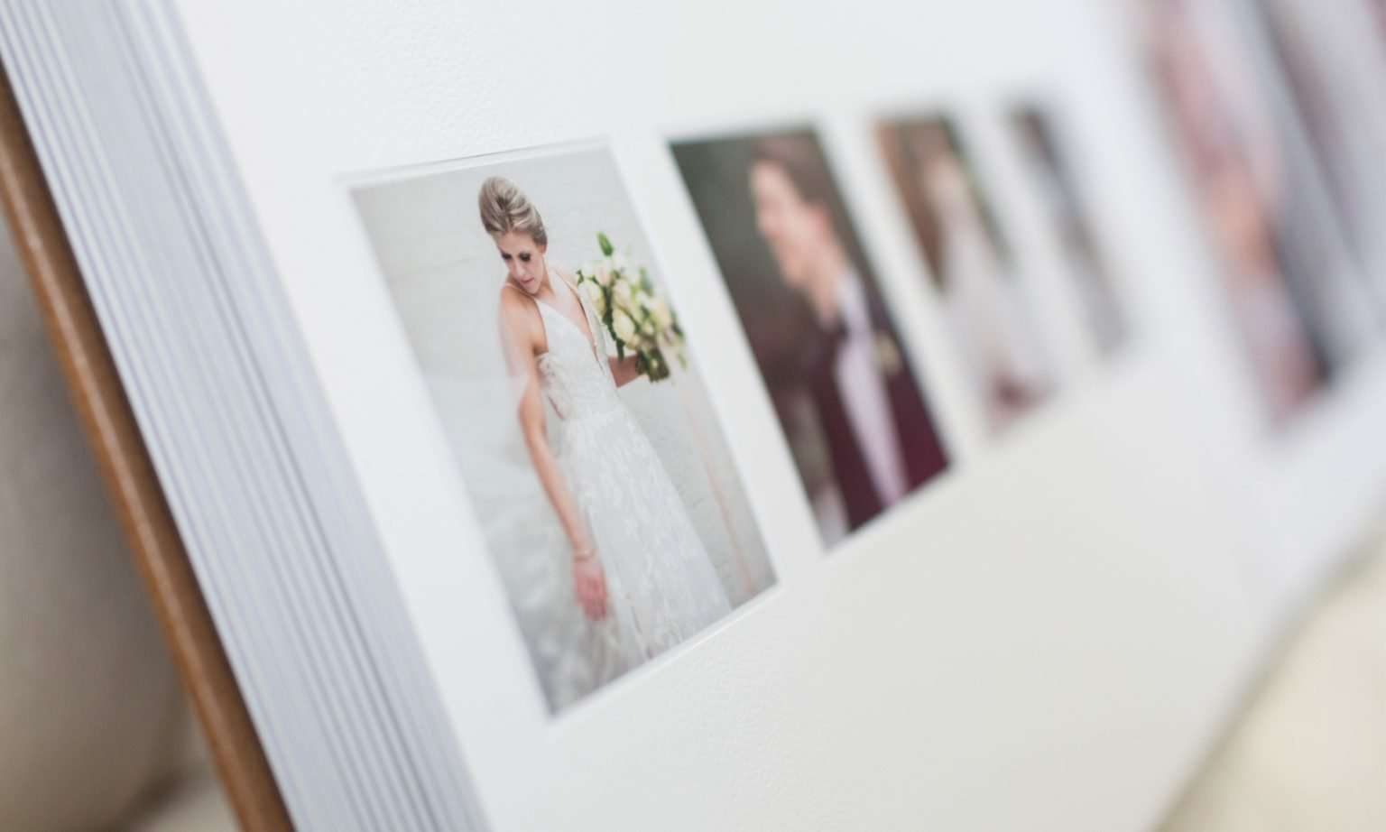a close up detail image of pages in a wedding album